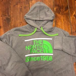 North Face Lime Green & Gray XXL Hoodie GUC